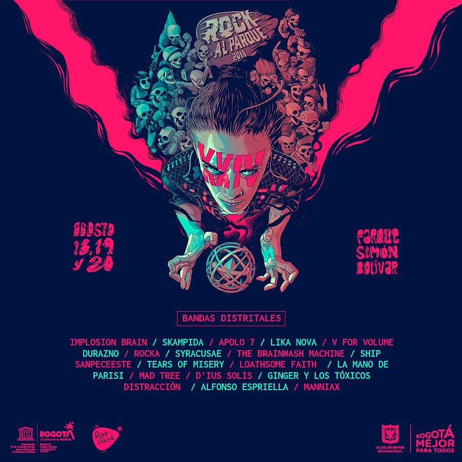 Bandas Distritales seleccionadas para participar en ROCK AL PARQUE 2018