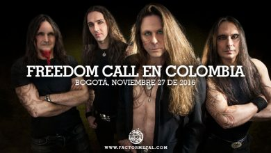 Photo of FREEDOM CALL en Colombia – Noviembre 27 de 2016, Auditorio Lumiere