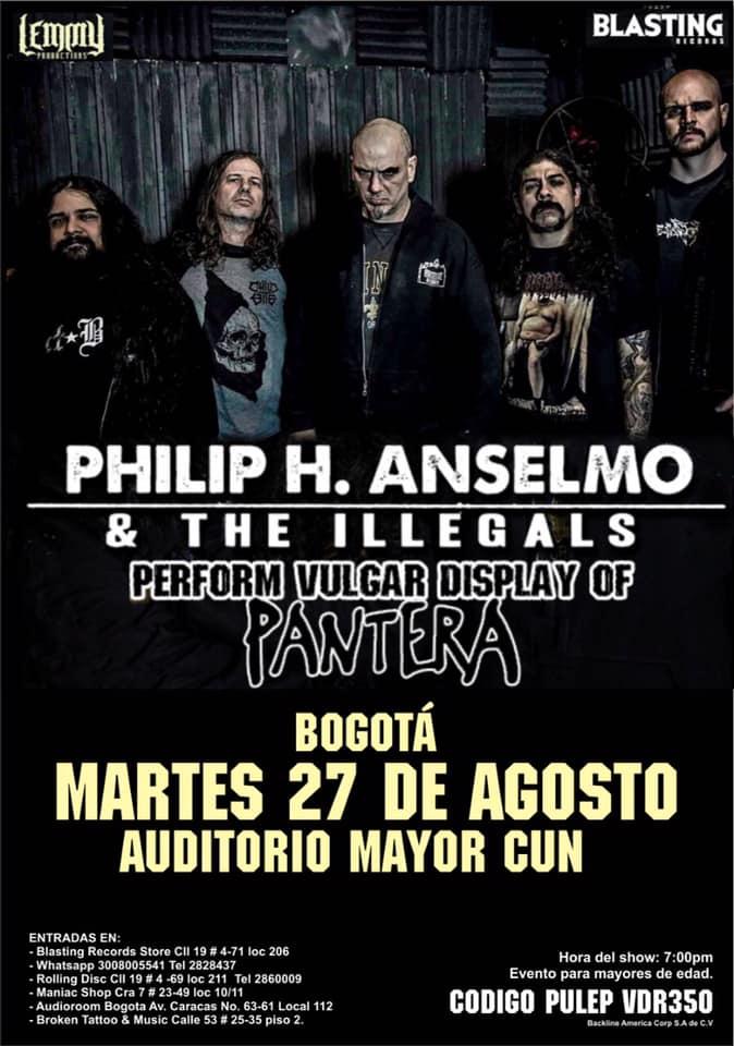 Philip H Anselmo & The Illegals en Bogotá