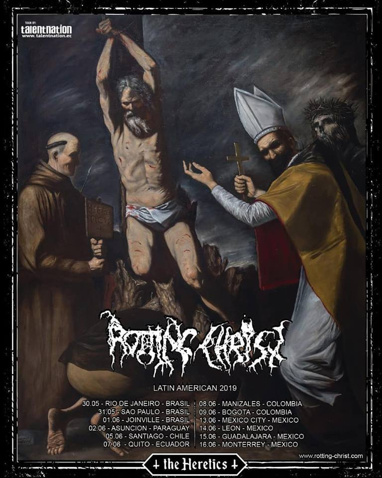 rotting christ colombia 2019 poster - Detalles del regreso de ROTTING CHRIST a Colombia en 2019
