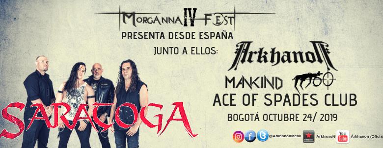 SARATOGA en Colombia encabezando el cartel del Morgana Fest 4